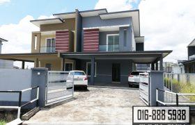 Double Storey Semi-Detached House at Taman Sri Moyan, Kuching