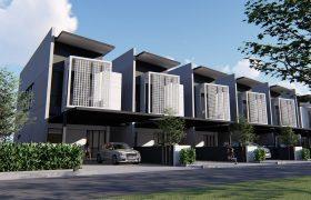 Holmestown – Double Storey Terrace House at Muara Tuang
